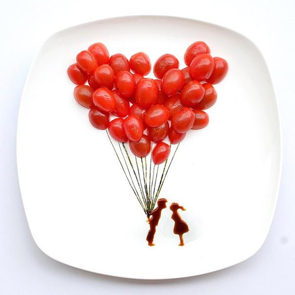 16 Awesome Food Art Ideas   Bored Panda #sauce #balloons #food #art #tomatoes