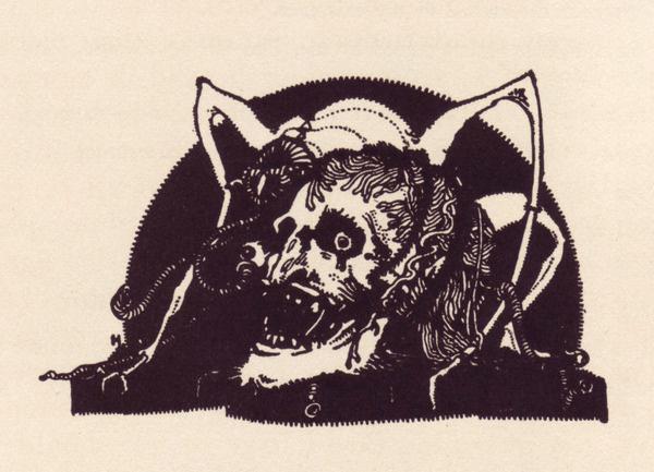 Harry Clarke, Poe decorations 50 Watts #skull