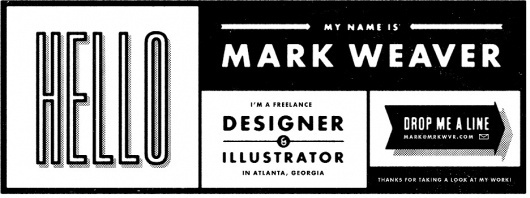 Mark Weaver #design #typography