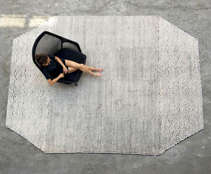 Black On White Semis Carpet by Bouroullec - InteriorZine #rugs #carpets #productdesign #design