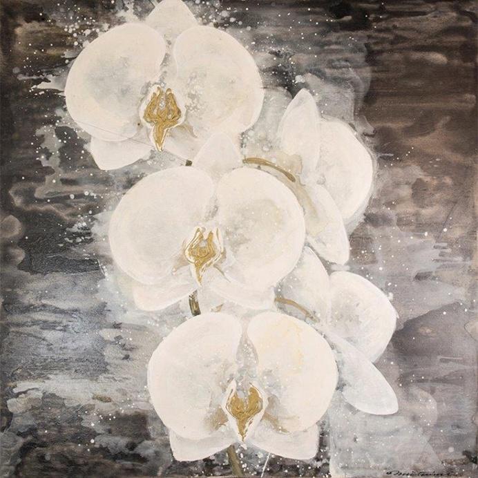 Floral Wall Art - 'Orchid' 61cm x 61cm