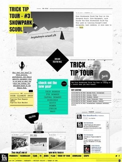 Elan Snowboards 2012   vbg.si - creative design studio #design #webdesign #snowboards #layout #web