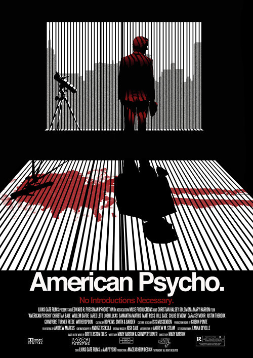 http://i.imgur.com/2WTpEme.jpg #movie #american #poster #psycho