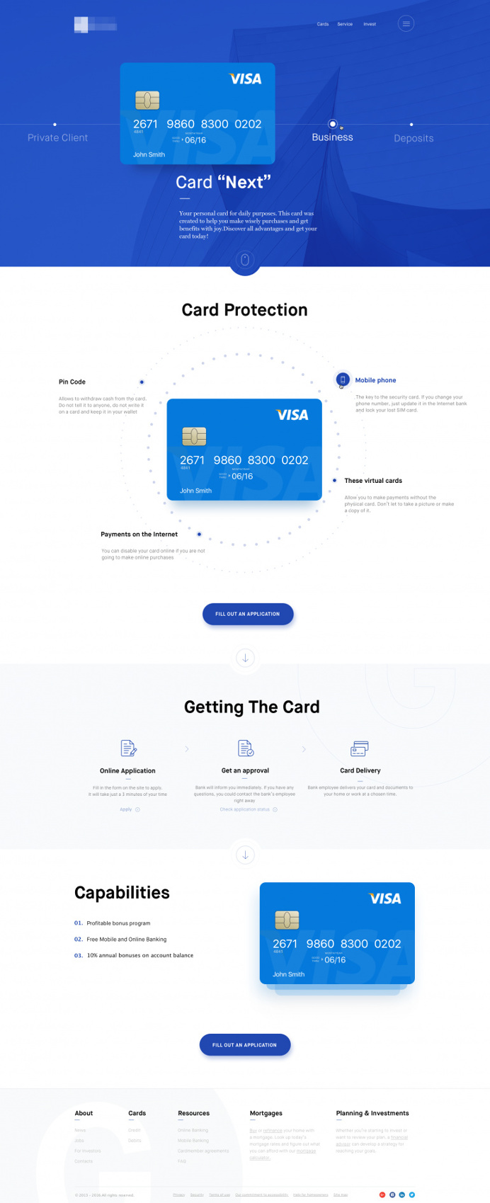 Financial landing Page