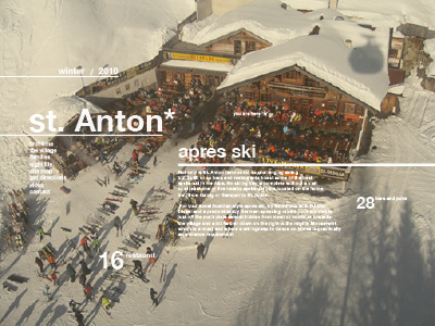 St Anton #interactive #design #clean #website #web #typography