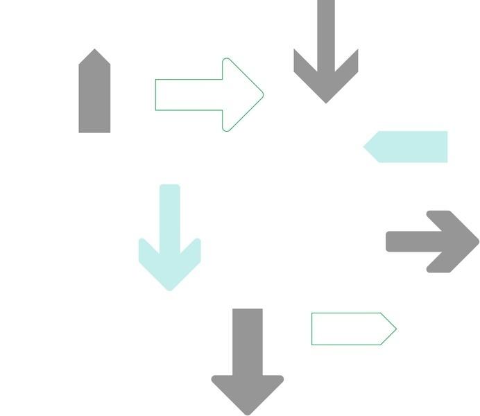 Forward HQ Arrows #arrows #illustration #colors