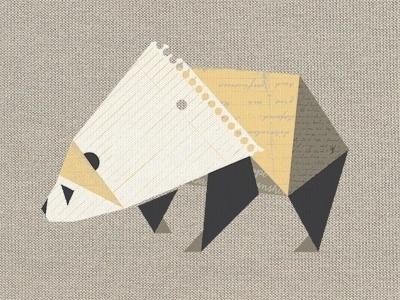 Dribbble - Paper Panda by Ross Bruggink #panda #paper