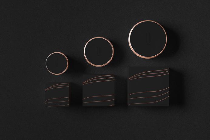 QUIQUE cosmetics copper black dark gold golden logo logotype branding corporate design identity business card print letter letterhead moder