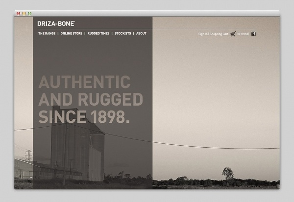 Websites We Love — Driza-Bone #site #design #web