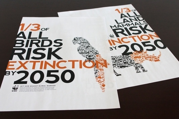 WWF - Climate Change Poster / Publication on the Behance Network #wwf #nonprofit #typography