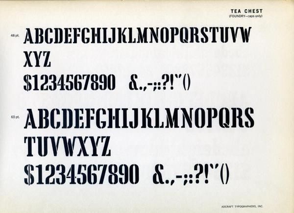 Tea Chest type specimen #type #specimen #typography