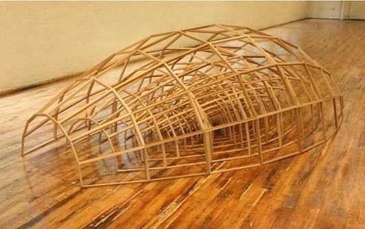 Nest #sculpture #butler #wood #wireframe #art #ben