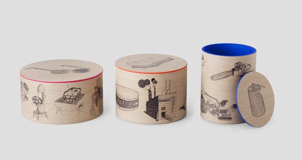 Established & sons #packaging #wood #illustration #boxes