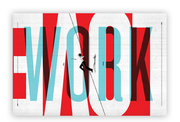 Work / Play iamalwayshungry #design #graphic #typography
