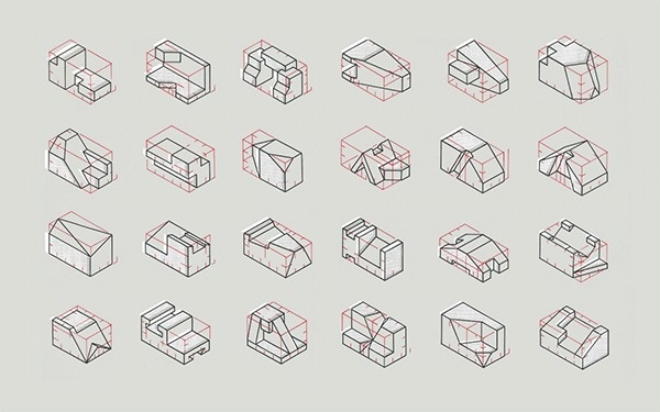 Important Evolutions | The Donut Project #lines #transform #shapes #graphic #wireframe #minimal