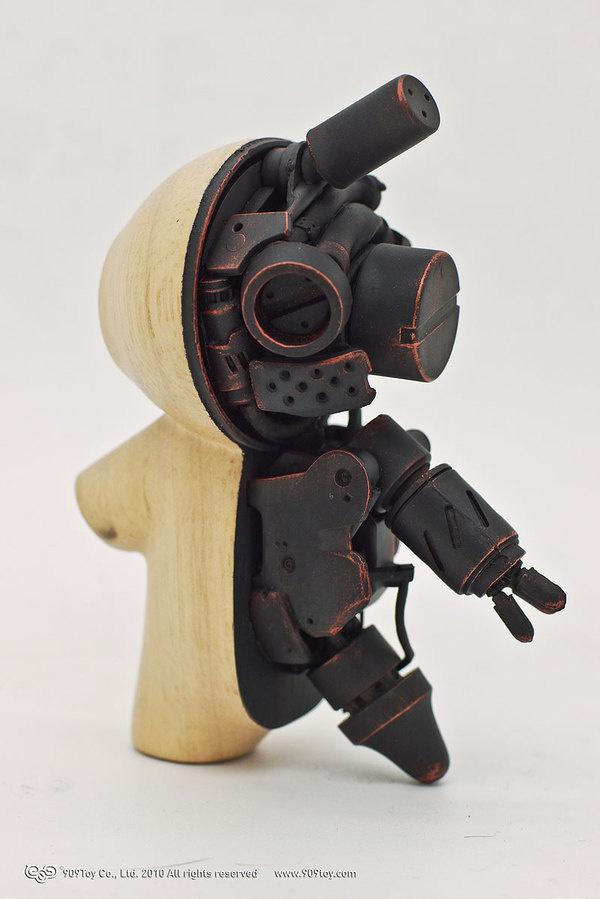 Wood Rabbit on Toy Design Served #cyborg #wood #rabbit