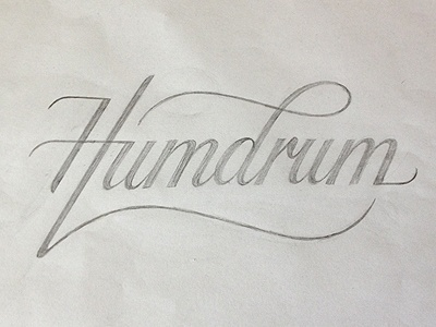 Dribbble - Humdrum logo (sketch) by Simon Ã…lander #lettering #logo #drawn #type #hand #awesome #sketch