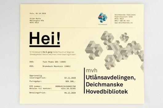 WANKEN - The Blog of Shelby White » Deichmanske Library Identity #mikael #floysand #promotional #deichmanske #identity