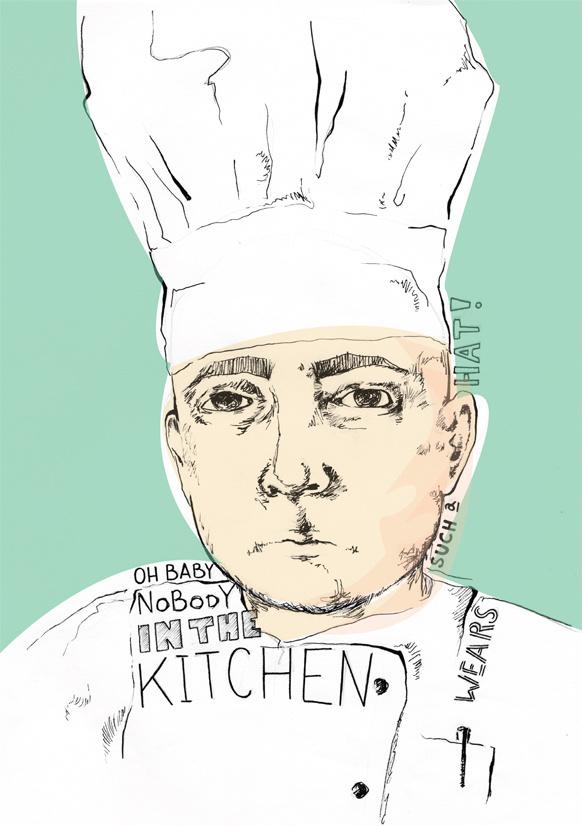 cook illustration #kitchen #illustration #cook #sketch