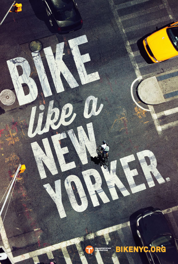 Bike like a New Yorker — Mother New York #cycling #type #nyc #bike #advert