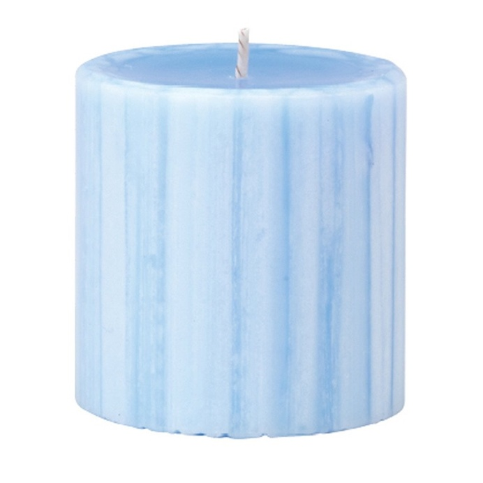 Marbled Pillar Lotus Flower & Topaz Water Scented Candle, 7 x 7 cm