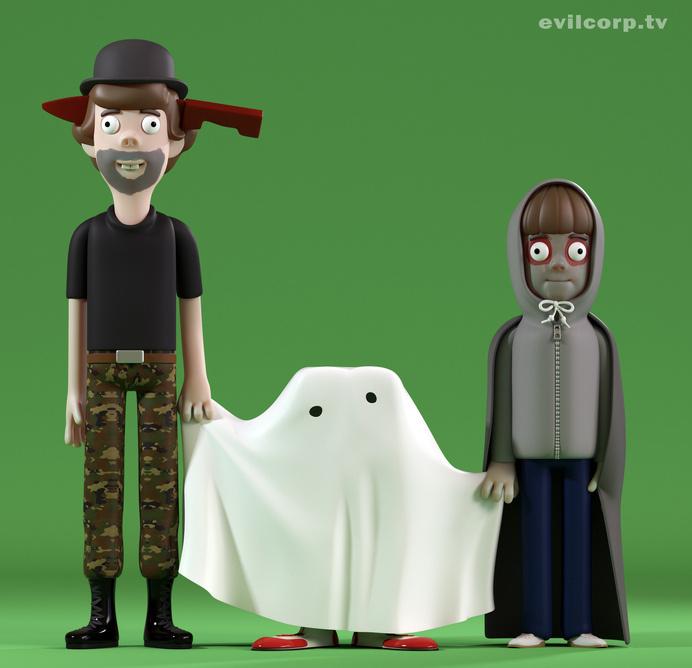 Evil Corporation - Vinyl Halloween #et #halloween #cgi #design #horror #vinyl #art #film #evil #toy