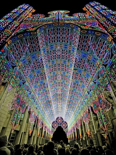 The Cool Hunter - 2012 Light Festival - Ghent, Belgium #colour #light #architecture #installation
