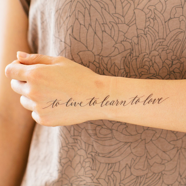 Image #live #calligraphy #tattoo #learn #love #typography