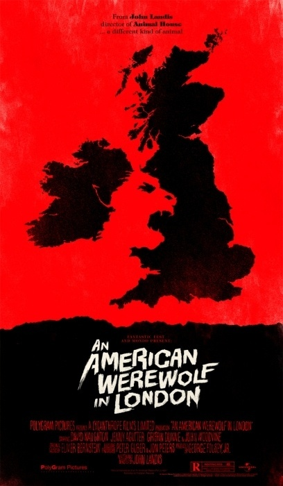Mondo: The Archive   Olly Moss An American Werewolf in London, 2011 #movie #poster
