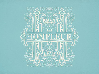Honfleur #logo #illustration #branding #typography
