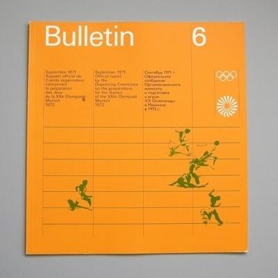 Otl Aicher 1972 Munich Olympics - Bulletin #otl #1972 #aicher #olympics #munich