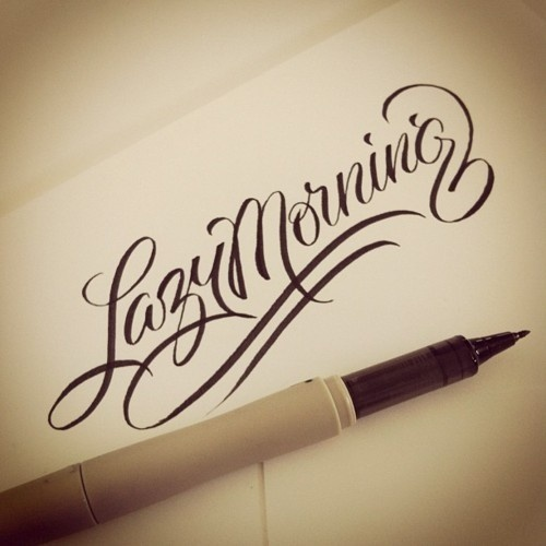 Typeverything.com Lazy Morning, warm up lettering by Matthew Tapia #lettering #sript