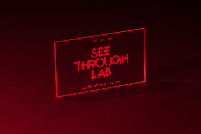 See Through Labs —See Through Business Card #business card #see through