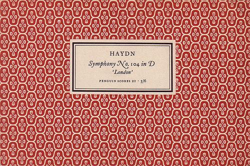 Penguin Scores no. 21: 1953 #garamond #pattern #musical #tschichold #jan #music #penguin #score