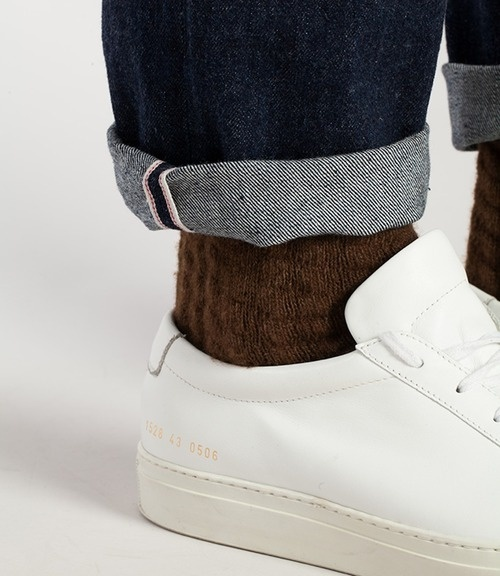 common projects x Levis vintage #shoes #cuffed #brown #fashion #socks