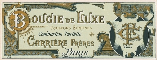 All sizes | Antique French Perfume Label | Flickr - Photo Sharing! #monogram #ornament #vintage #type #typography