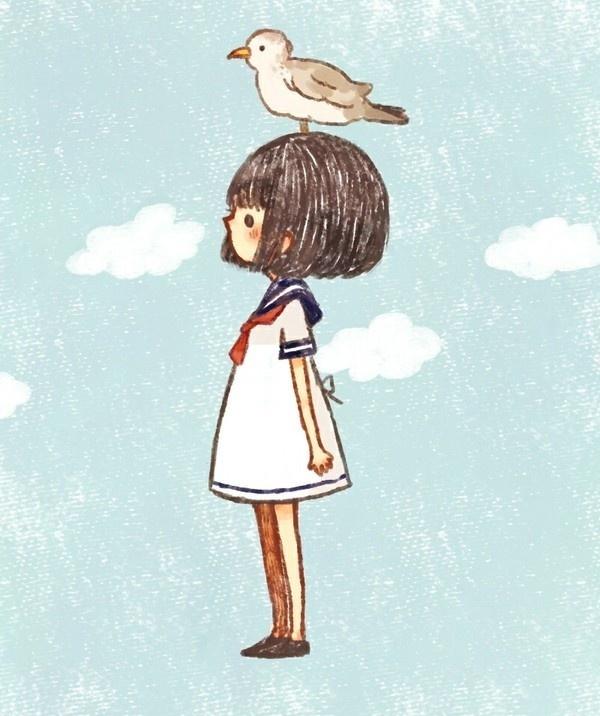 <3 #cute #illustration #girl