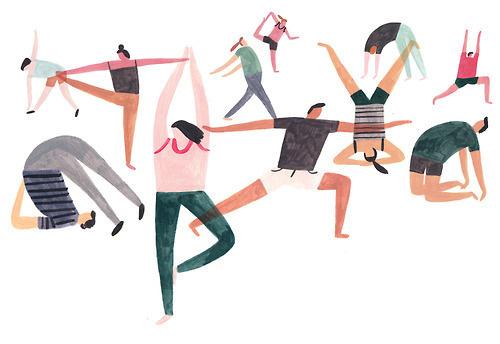 Yoga illustration for Felicity J Lord magazine #illustration