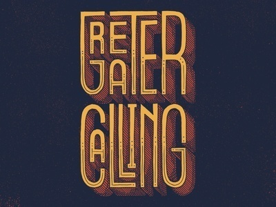 Greater Calling by Jason Carne #inspiration #design #awesome #typography