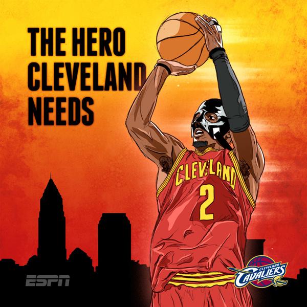 ESPN NBA Illustrations on Behance #irving #batman #hero #illustration #mask #sports #cavs #kyrie #cleveland #nba #basketball