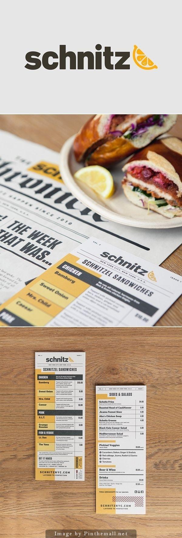 Schnitz menu design
