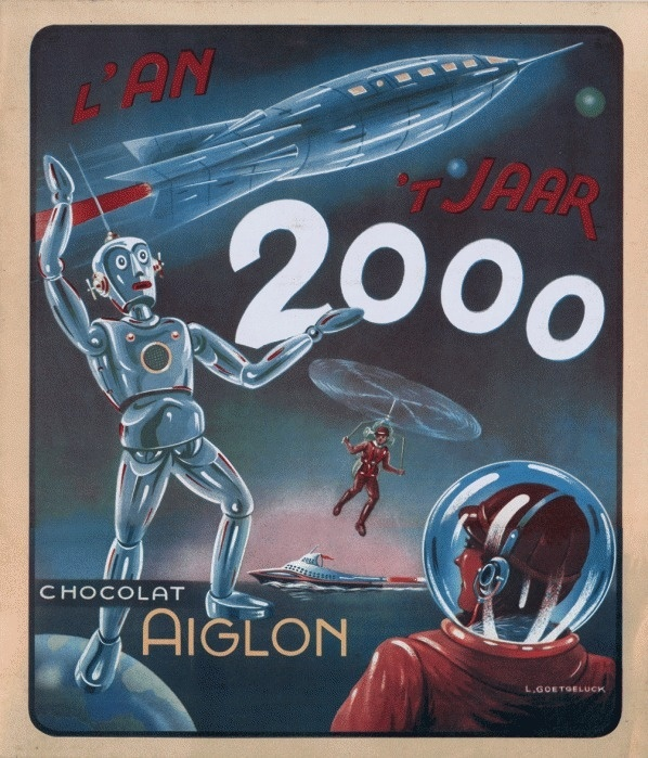 """COLLECTIBLE ALBUM COVER FOR """"L'AN 2000"""" Retronaut #illustration #mid #century"""