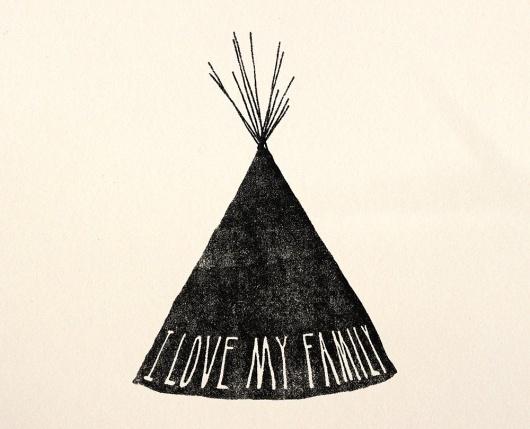 il_fullxfull.78630066.jpg (1000×810) #lettering #illustration #teepee #tipi #hand #native