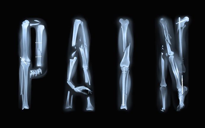Sawdust — Work, Men's Health (US) #typography #x-ray #sawdust #pain #bones