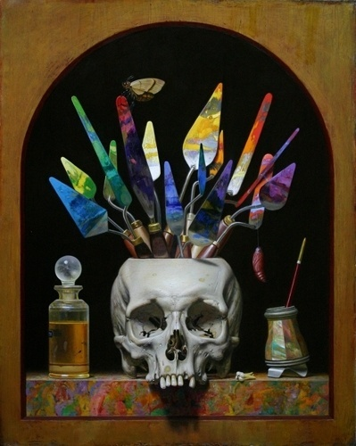 Will Wilson Studio #skull #colors #painting #brush