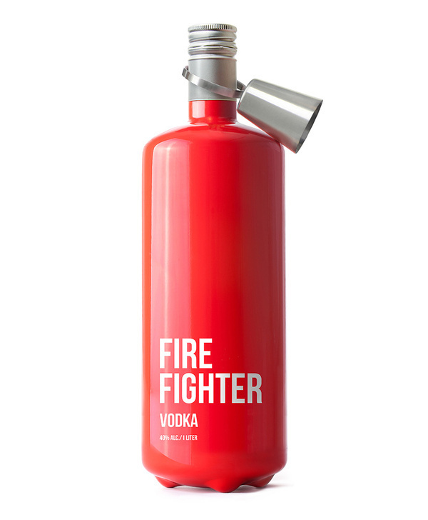 Lovely Package — Firefighter Vodka #red #bottle #packaging #fighter #fire #vodka #package