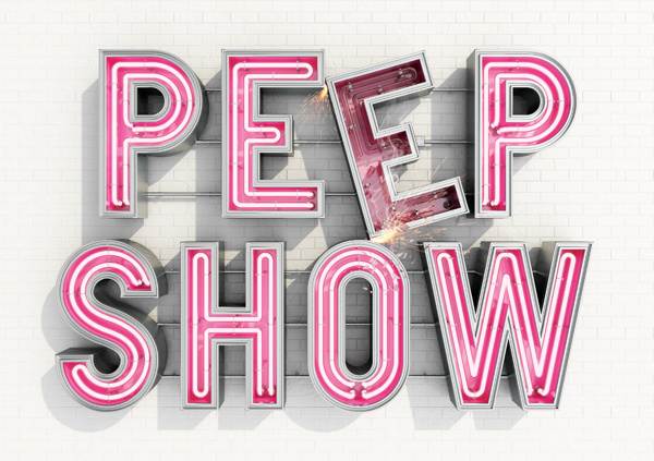 Peep Show By Another Example #sign #c4d #render #type #3d #typography