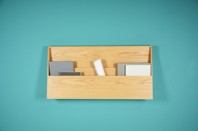 Fju – linear desk with two functions: workspace and shelf #furniture #desk