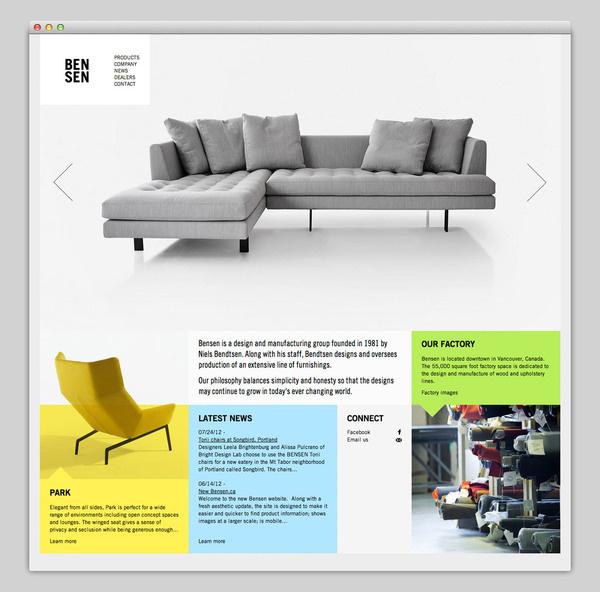 BENSEN #design #website #furniture #layout #web