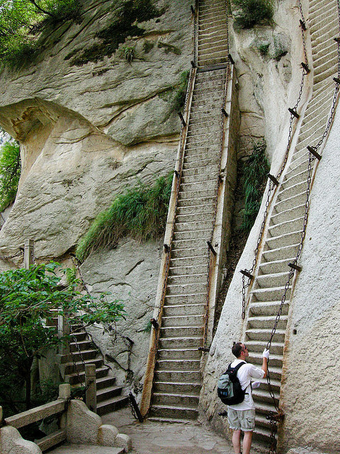 staircase in china #staircase #rock #china